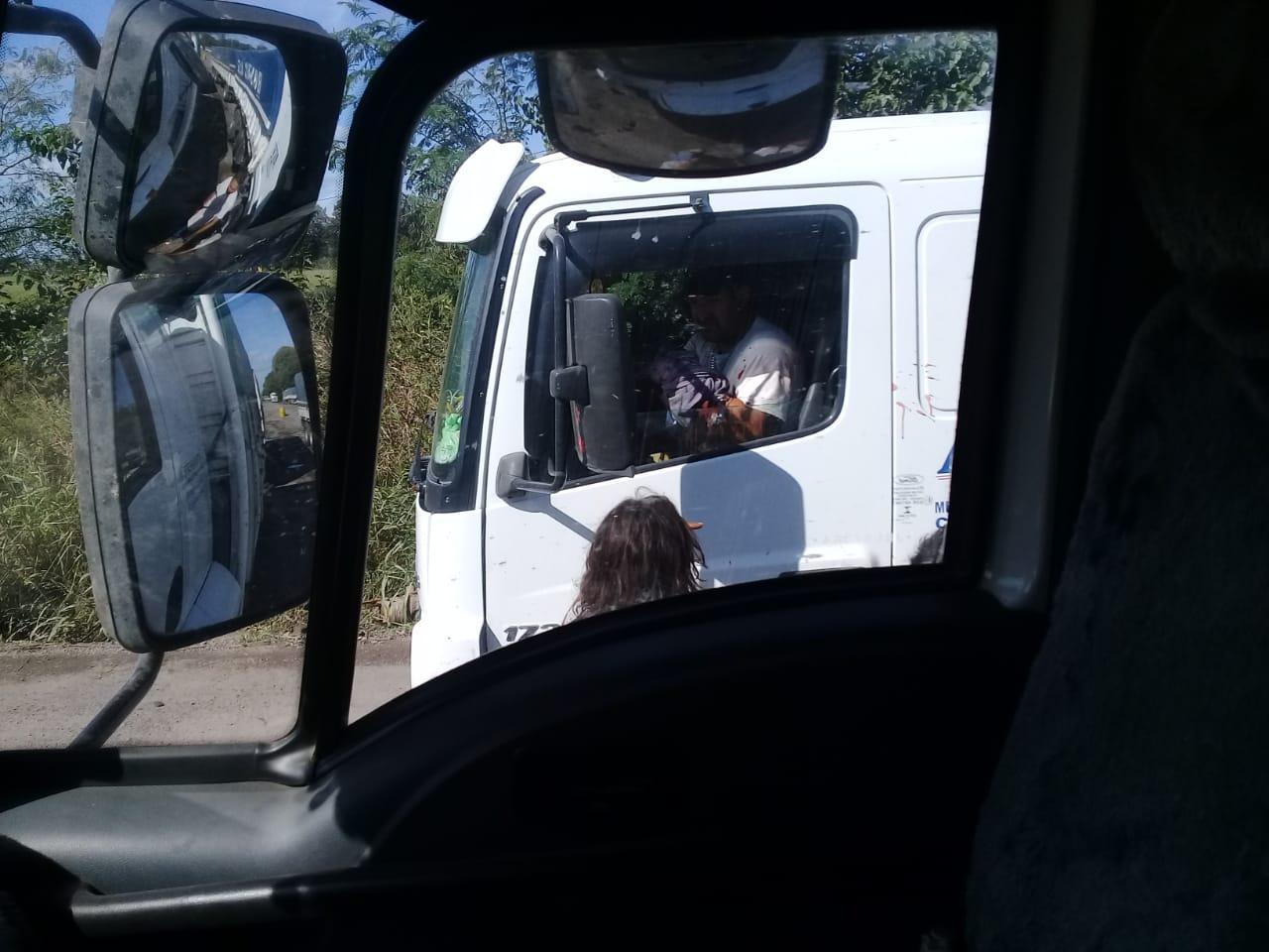 Camionero herido